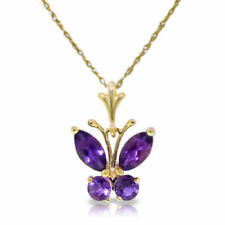 """14k Yellow Gold Butterfly Pendant Necklace 18"""""""