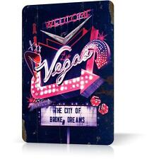 METAL TIN SIGN WELCOME LAS VEGAS GOOD DESIGN Vintage Decor Home Bar Pub Garage