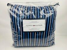 Tommy Hilfiger Heritage Stripe 3 Piece Full / Queen Comforter Set Navy $170