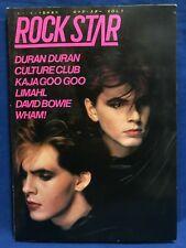 Rock Star Vol.1 Duran Duran Culture Club Wham Kajagoogoo Japan Magazine w/ Flexi