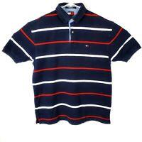 Tommy Hilfiger Vintage Striped Men's Medium Short Sleeve Polo