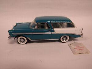 1956 Chevrolet Nomad 1:24 Franklin Mint Blue