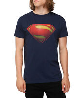 Superman Man of Steel Movie Logo Blue T-Shirt