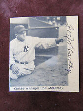 """Joe McCarthy Autographed B/W Magazine Paper Clipping - Hall of Fame """"Old Marse"""""""