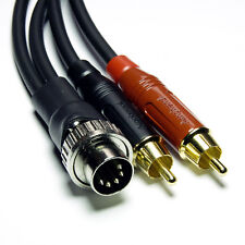 4m '5-pin PREH DIN - RCA' Gotham GAC-1 cable for Naim
