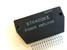 STK4026-II Af Power Amplifier + Heat Sink Compound Original SANYO LOT OF 2