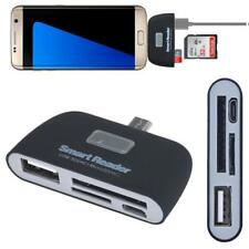 For Samsung Galaxy S7Edge Micro Usb 3 in 1 Memory Card Reader Adapter Usb/Tf/Sd