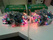 2 BOXES OF HOLIDAY STYLE CHRISTMAS MULTI 100 LIGHT SETS