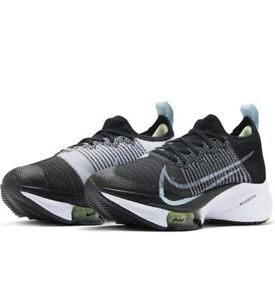 Nike AIR ZOOM TIEMPO NEXT% FK UK 6 EU 40 Women's Running Black Blue CI9924 001