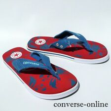 Women's Mens CONVERSE All Star THONG Blue Red White SANDALS Flip Flops SIZE UK 5