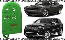 Green Rubber Smart Key Fob Remote Case Cover For Jeep Dodge Chrysler New USA