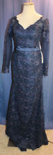 Ok Bridal navy lace  evening long dress 6 ? NWT