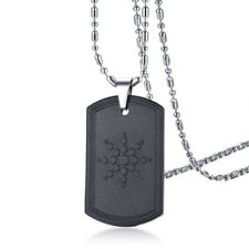 Quantum Scalar Energy Bio Science Pendant Necklace for Men Dog Tag Japanese Tech