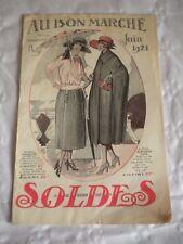Vintage Catalogue 1921 ladies clothes + textiles Au Bon Marche Blanc art deco