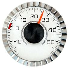 Historisches HR Auto KFZ Bimetall Thermometer Diamantschliff Magnet Halter