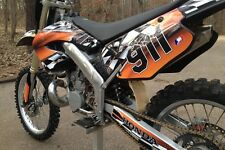 CR125 CR 250 graphics decal kit for 2000 2001 Honda Dirt Bike #2500 Orange