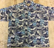 Patagonia Pataloha Hawaiian Shirt 2XL Ocean Coral Waves Sailfish Organic Cotton