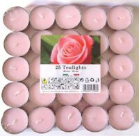 Rose Fragranced Scented Tealights Tea Light Candles Pack of 25
