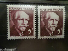 FRANCE 1948, VARIETE COULEUR, timbre 820, LANGEVIN, neufS** MNH VARIETY STAMPS
