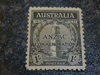 AUSTRALIA POSTAGE STAMP SG155 1/- LIGHTLY-MOUNTED MINT