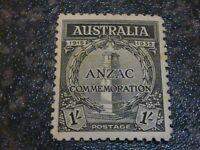 AUSTRALIA POSTAGE STAMP SG155 1/- LIGHTLY MOUNTED MINT