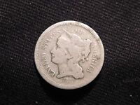 RARE 1868 3c THREE CENT NICKEL PIECE COIN GOOD BUY IT NOW OR MAKE OFFER