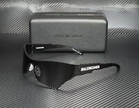 BALENCIAGA BB0040S 001 Rectangular Square Grey Grey 99 mm Unisex Sunglasses