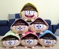 "15""Anime Mr.Osomatsu San SIX SAME FACES Konya wa Saikou Plush Toy Cushion Pillow"