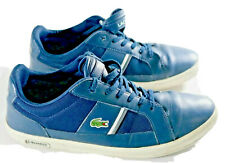 Lacoste Europa Men's navy blue lace up leather shoes size 10.5 Low top sneaker
