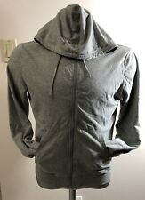 Michael Kors Gray Zip Up With Hoodie Men Lonh Sleeve Sweater/jacket Size Small