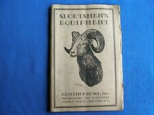 1920s Griffin & Howe Sportsman Equipment Catalog