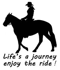 HORSE DECAL STICKER LIFE'S A JOURNEY BRAND NEW FOR CAR,FLOAT,TACK,4WD
