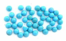 Two 4mm Round Bullet Turquoise Cabochon Cab Gem Stone Gemstone EBS8145