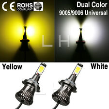 2X9005 HB3 9006 HB4 LED Car Fog Light Bulb Driving White Yellow Amber Dual Color