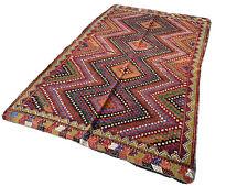 Traditional Turkish Kilim Rug,Vintage Anatolian Kelim Teppich 260x160 cm
