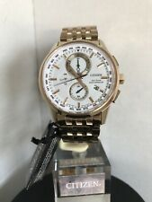 Citizen Men's Eco Drive World Time Radio Controlled Bracelet Watch AT8113-55A