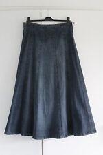 UK 12 R PER UNA Maxi Skirt Blue Denim Panel Winter VGC (59)