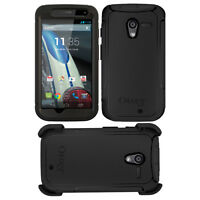 New OEM Otterbox Defender Case Cover For Motorola Moto X Black With Holster Clip