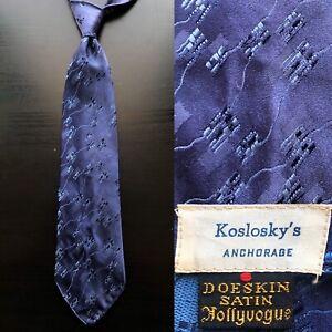 Original by Damon ca 1940s Vintage Grey Cream and Burgundy Tie