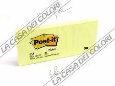 POST-IT - NOTES 653 - BLOCCHETTO 100 FOGLI 38x51mm - CONF. 3 BLOCCHETTI