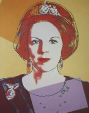 Andy Warhol, Queen Beatrix of the Netherlands 1985, Hand Signed Lithograph