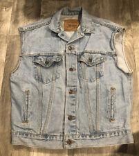 VTG Orange Tab Levis 57508 Light Wash Denim Jean Jacket Vest Women's L 16/18