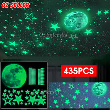 435X Wall Stickers Luminous Stars Moon Planet Decal Glow In Dark Kids Room Decor