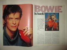 David Bowie Bianca Jagger Peter Gabriel Bill Lovelady clippings Sweden 1980s