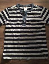Gymboree Boys Size 4 Henley Shirt Blue White Stripes
