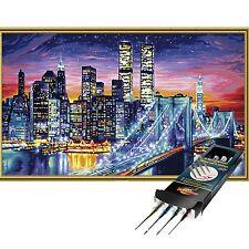 Manhattan bei Nacht Malen nach Zahlen Schipper inkl. Pinselset 40x80cm