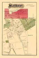 Saline Michigan - Krause 1874 - 23.00 x 33.71