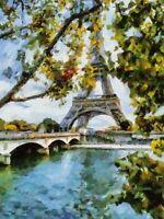 Celito Medeiros: Eiffel Tower View Keilrahmen-Bild 40x50 Leinwand Paris Seine