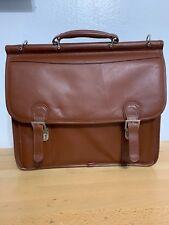 McKlein Halsted Laptop Briefcase Attorney Bag - Brown Very Good Condition
