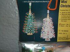 Vintage LeeWards GREEN MINI CHRISTMAS TREE Bead Sequin Ornament Kit